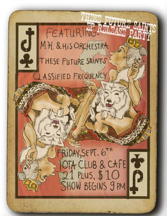 These Future Saints, EP release show flyer